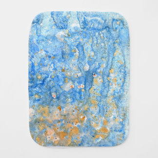 Abstract blue painting baby burp cloth