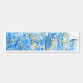 Abstract blue painting bumper sticker