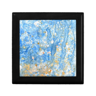Abstract blue painting gift box