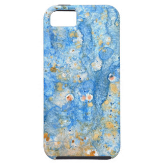 Abstract blue painting iPhone 5 cases