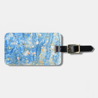 Abstract blue painting luggage tag