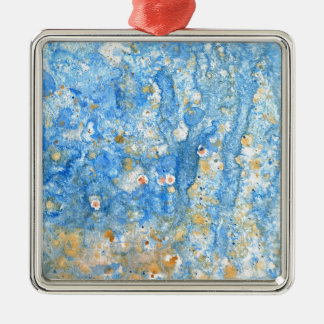 Abstract blue painting metal ornament