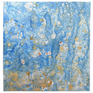 Abstract blue painting napkin