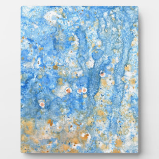 Abstract blue painting plaque