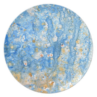 Abstract blue painting plate