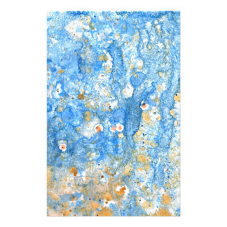 Abstract blue painting stationery
