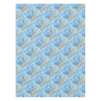 Abstract blue painting tablecloth