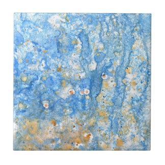 Abstract blue painting tile
