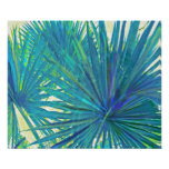 abstract blue palms poster