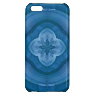 Abstract blue pattern with wood flower iPhone 5C covers