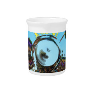 Abstract Blue Pitcher