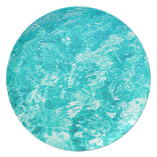 Abstract blue plate