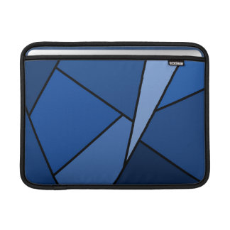 Abstract Blue Polygons Sleeves For MacBook Air