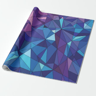 Abstract blue purple polygonal design