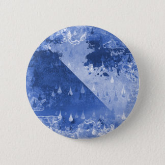 Abstract Blue Rain Drops Design 6 Cm Round Badge