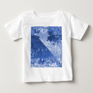 Abstract Blue Rain Drops Design Baby T-Shirt