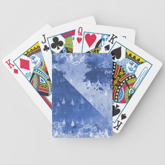 Abstract Blue Rain Drops Design Bicycle Playing Cards