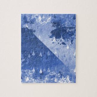 Abstract Blue Rain Drops Design Jigsaw Puzzle