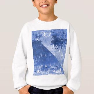 Abstract Blue Rain Drops Design Sweatshirt