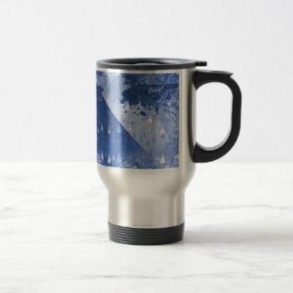Abstract Blue Rain Drops Design Travel Mug