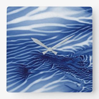 Abstract Blue Sea Clocks