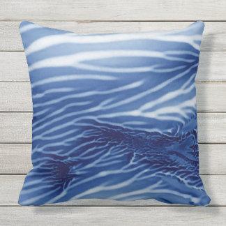 Abstract Blue Sea Monoprint Cushion
