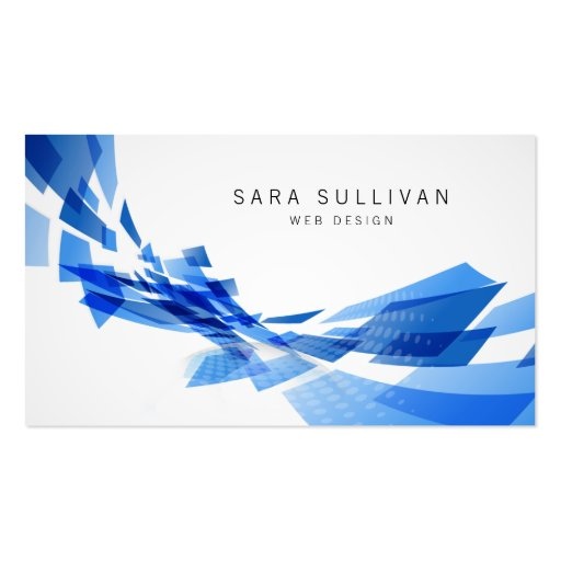 Abstract Blue Shapes Web Design Business Card