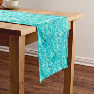 Abstract blue short table runner
