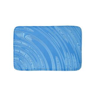 abstract blue silver metallic texture. bath mat