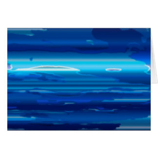 Abstract Blue Sky Card