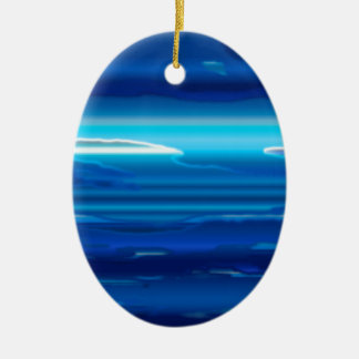 Abstract Blue Sky Ceramic Ornament