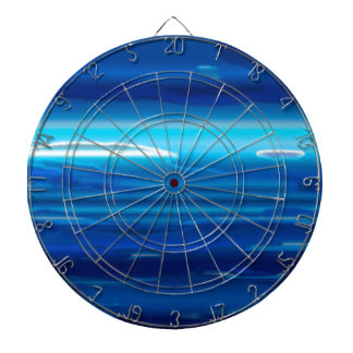 Abstract Blue Sky Dartboard