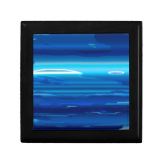 Abstract Blue Sky Gift Box