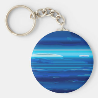 Abstract Blue Sky Key Ring