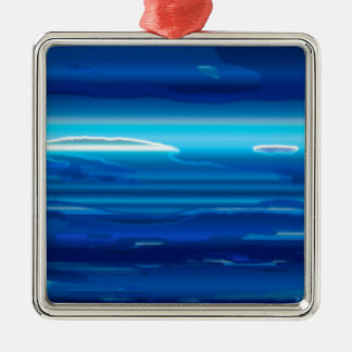 Abstract Blue Sky Metal Ornament
