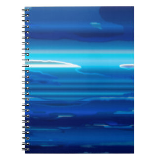 Abstract Blue Sky Spiral Notebook
