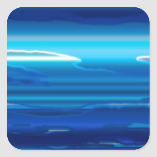Abstract Blue Sky Square Sticker