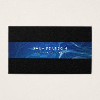 Abstract Blue Smoke Pattern Business Card