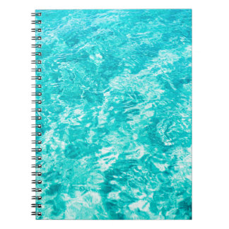 Abstract blue spiral notebook
