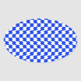 Abstract Blue Oval Sticker