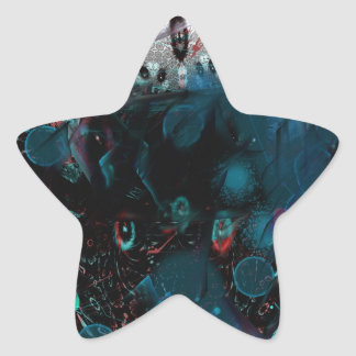 abstract blue stickers