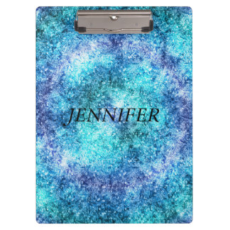 Abstract Blue  Teal Design Clipboard