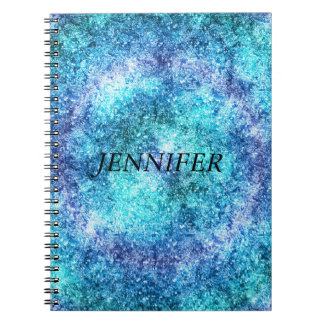 Abstract Blue  Teal Design Notebook