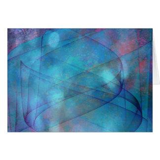 Abstract blue tornado horizontal card