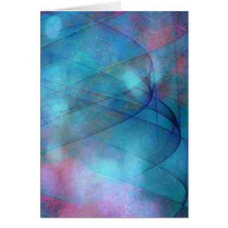 Abstract blue tornado vertical card