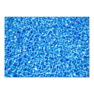 Abstract Blue Water Invitation Card