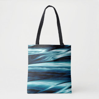 Abstract Blue Water Waves Tote Bag