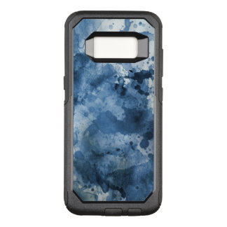 Abstract blue watercolor background OtterBox commuter samsung galaxy s8 case