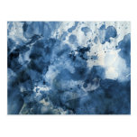 Abstract blue watercolor background postcard