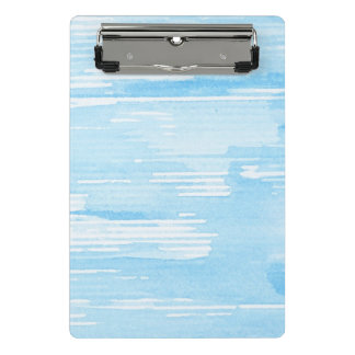 Abstract blue watercolor background, texture. 2 mini clipboard